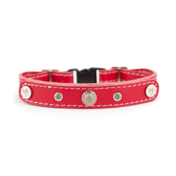cat collar with base kets - red