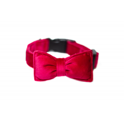 Dog Collar Mr. Fox - wild raspberry