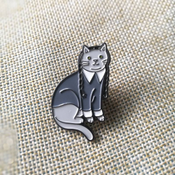 Pin Addams Cat