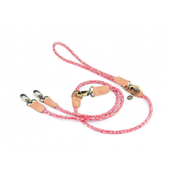Dog Double Leashes HAFEN red