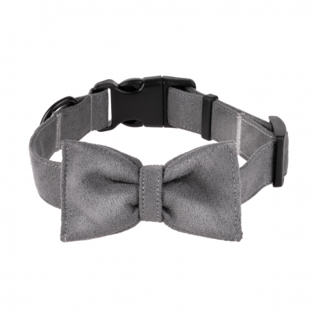 Dog Collar Mr. Fox - Gray mouse